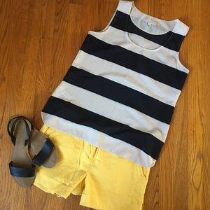 Black/Cream Striped Tank Blouse